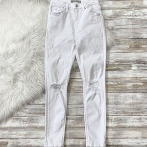 Topshop Moto Jamie Ripped High Rise Skinny Jeans